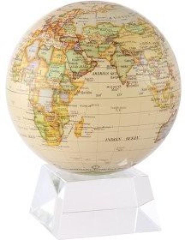 "Generic 6"" Antique Gloss Finish Mova Globe With Medium Crystal Base(Multicolor)"