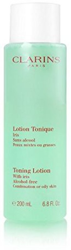 Clarins Toning Lotion Alcohol Free With Iris For Oily To Combination Skin,(200 ml)