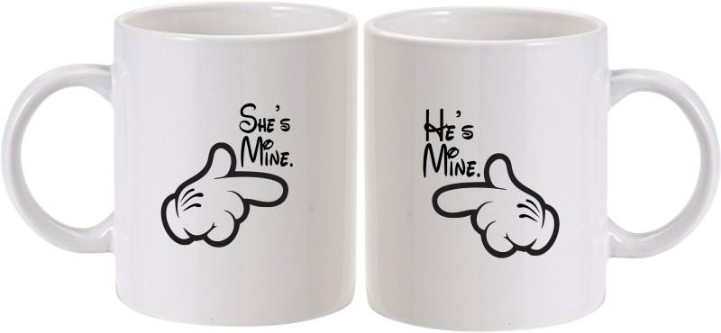 MUGkin Mine Ceramic Mug(325 ml, Pack of 2)