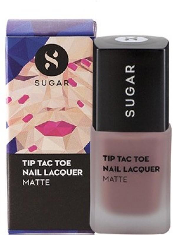 Sugar Cosmetics Tip Tac Toe Nail Lacquer Carpe Matte Nude Pink(10 ml)
