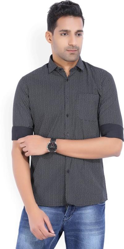 LAWMAN PG3 Men's Floral Print Casual Black, White Shirt