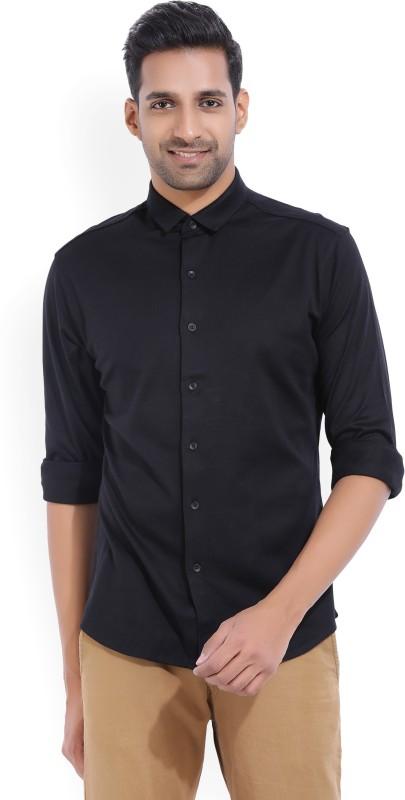 V Dot by Van Heusen Mens Woven Casual Black Shirt