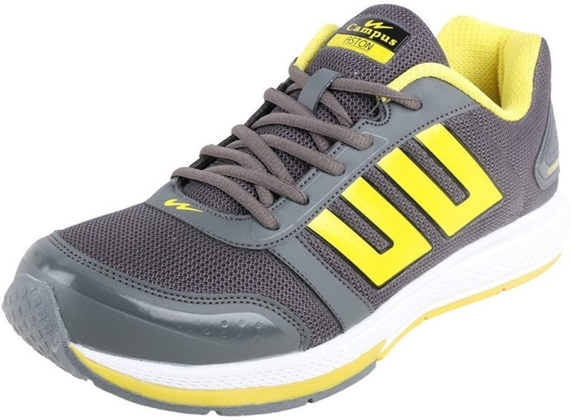 Campus Campus ASTON D.Gry/Yel Men Running Shoes Running Shoes For Men(Grey, Yellow)