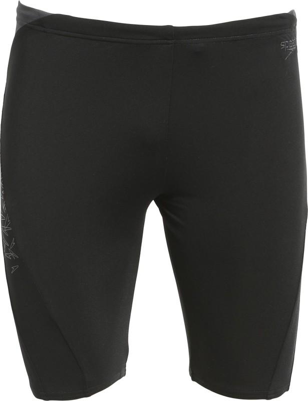 Speedo Printed Men's Black Swim Shorts