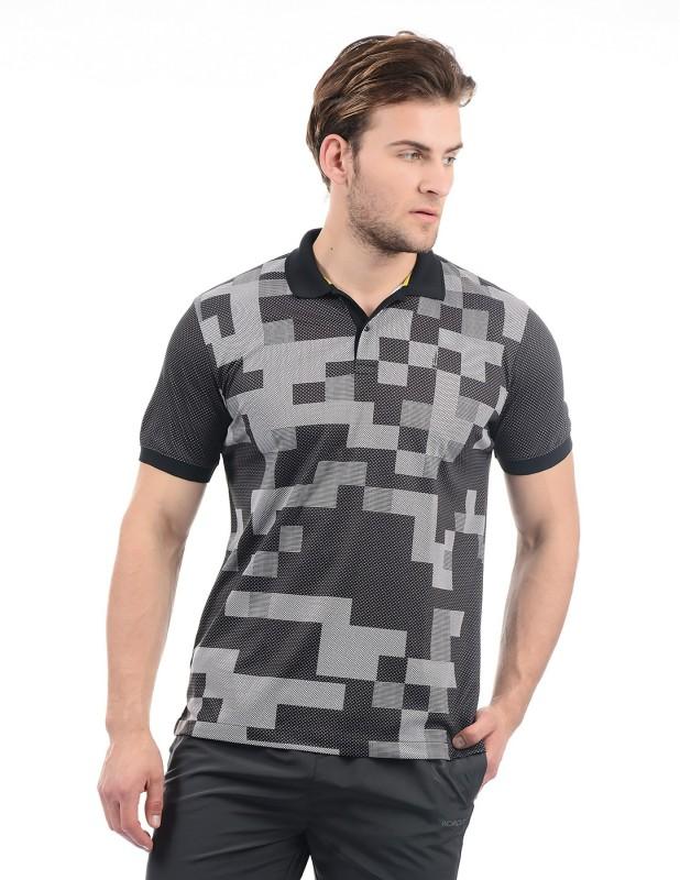 Arrow New York Printed Men Polo Neck Multicolor T-Shirt