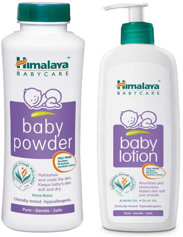 Himalaya Original Baby Lotion 400 ml + Baby Powder 400 g(2 x 400 g)