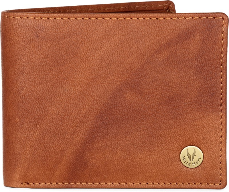 WildHorn Men Tan Genuine Leather Wallet(5 Card Slots)