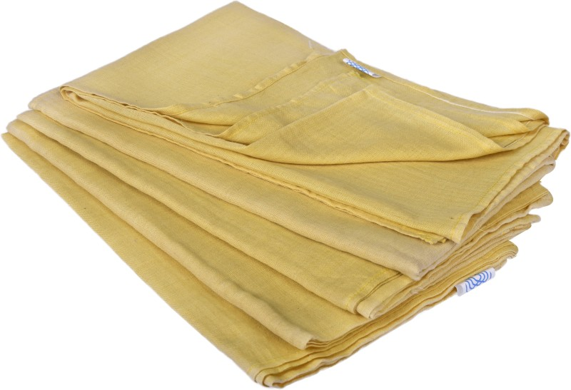 looms & weaves Cotton 250 GSM Bath Towel(Pack of 5, Yellow)