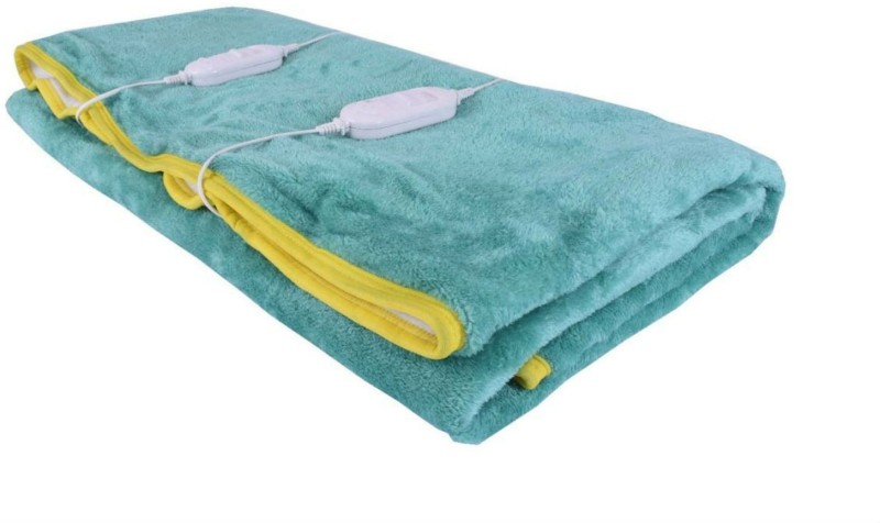 Creative India Exports Plain Double Electric Blanket Aqua Blue(1 Blanket)