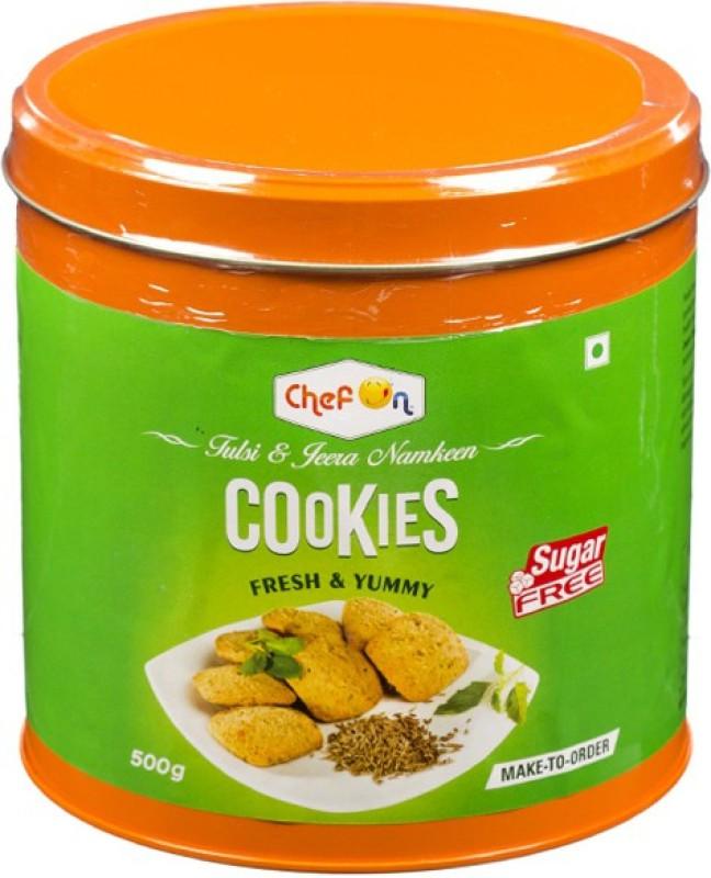 ChefOn Tulsi & Jeera Sugar Free Cookies 500 gm(500 g)