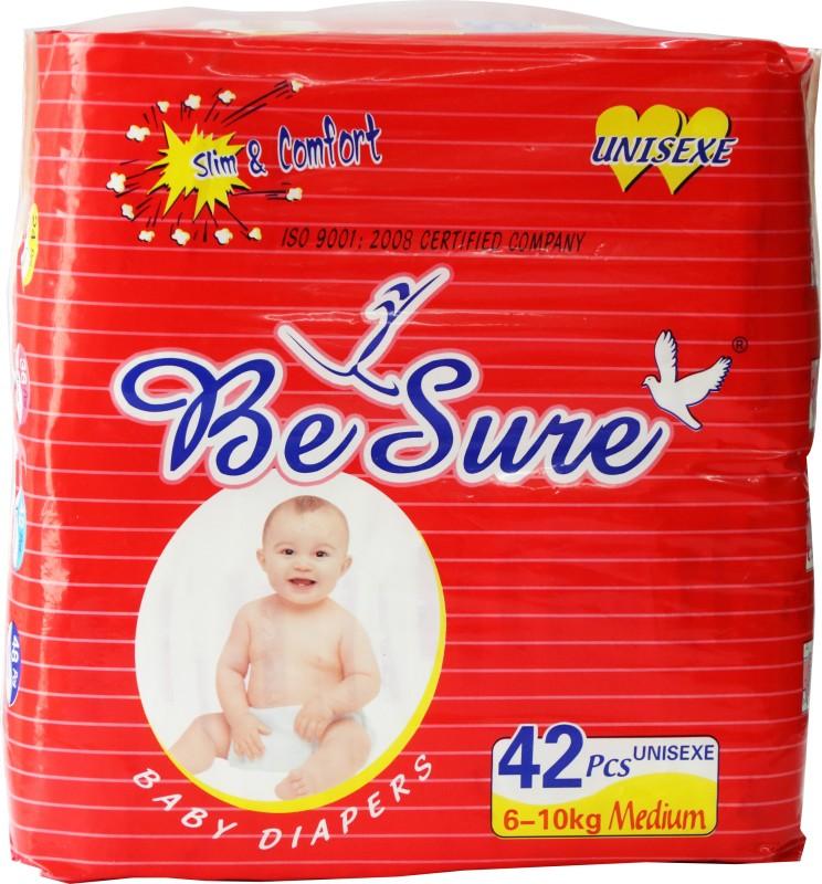 Besure BABY DIAPERS REGULAR TYPE - 42 PCS - M(42 Pieces)