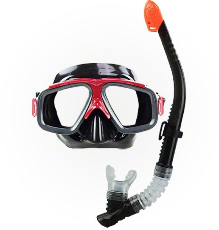 Jilani Trading Diving Black Snorkel Set for Adult 8+ Diving Mask(L)