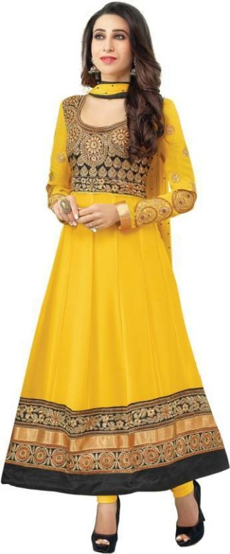 FastColors Georgette Embroidered Salwar Suit Dupatta Material(Un-stitched)