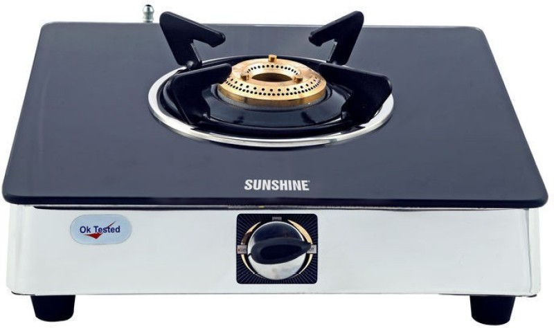 Sunshine Stainless Steel, Glass Manual Gas Stove(1 Burners)
