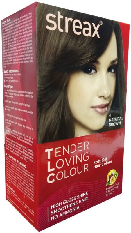 STREAX Tender Loving Colour (Natural Brown 4) Hair Color(Natural Brown)