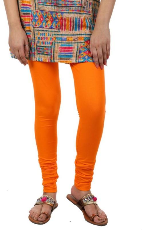 A.A Enterprise Churidar  Legging(Orange, Solid)