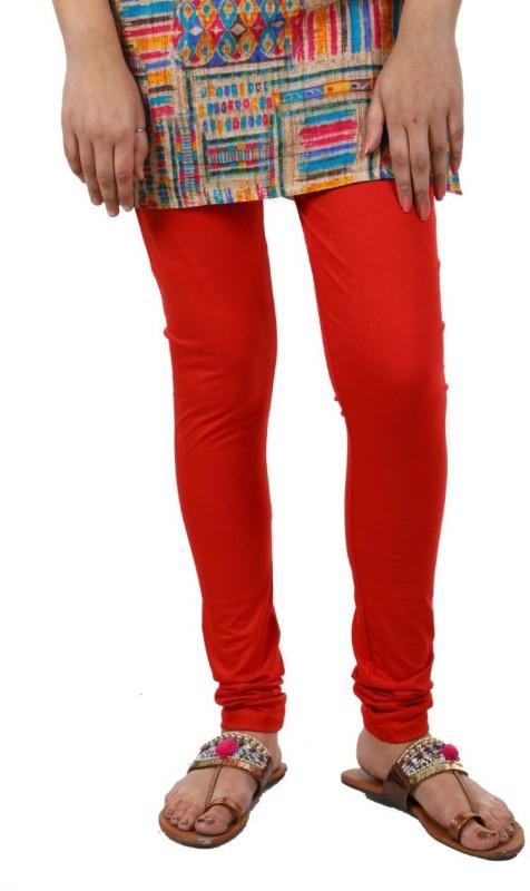A.A Enterprise Churidar  Legging(Red, Solid)