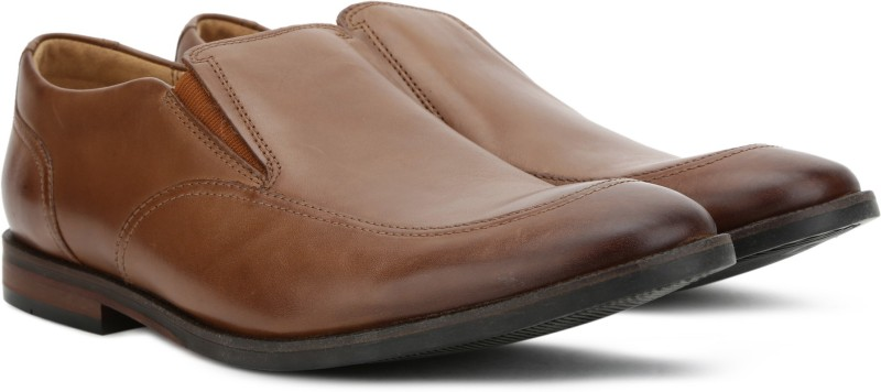 Clarks Broyd Step Tan Leather Formal For Men(Tan)