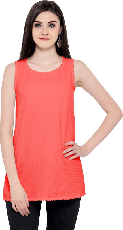 F Plus Fashion Party Sleeveless Solid Women Red Top