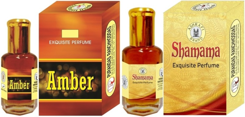 Purandas Ranchhoddas PRS Amber & Shamama 6ml Each Herbal Attar(Amber)