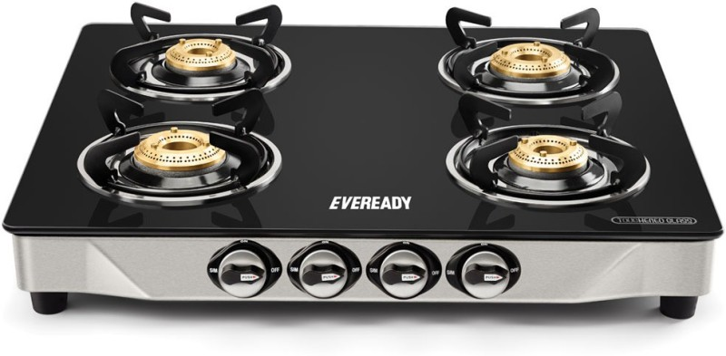 Eveready TGC 4B DX 4 Steel Manual Gas Stove(4 Burners)