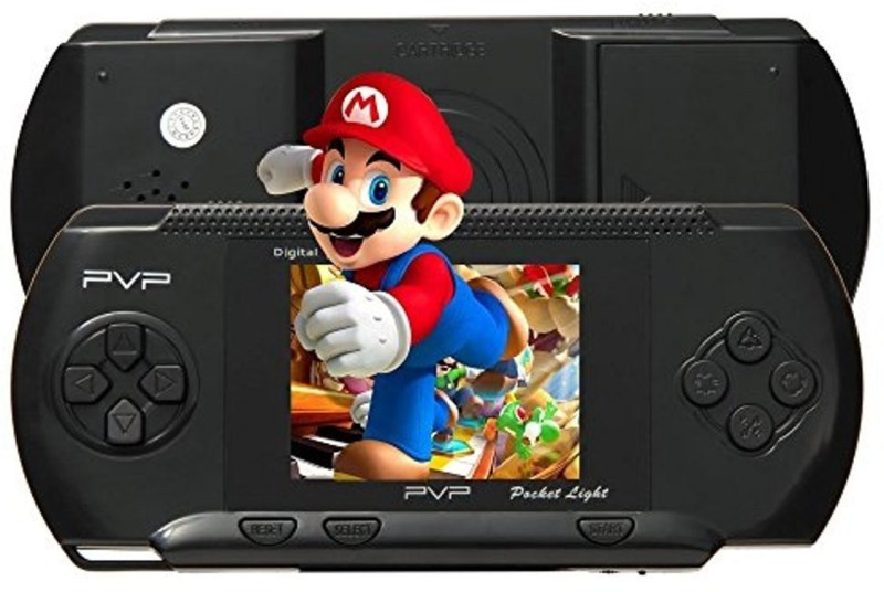 KIDLAND TV Video Game PVP with Mario(Black) Handheld Gaming Console(BLACK)
