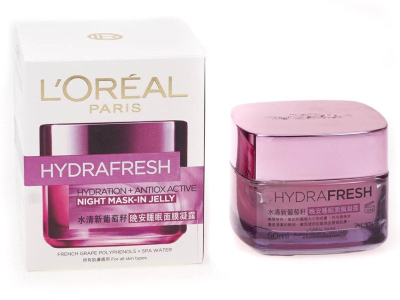 LOreal Hydrafresh Hydration+Antiox Active Night Mask In Jelly(50 ml)