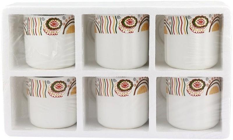 Jumbo 6 Pcs Ceramic Tea Cup Ceramic Mug(150 ml, Pack of 6)