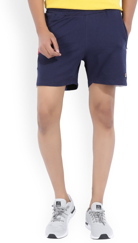 Fila Solid Mens Blue Basic Shorts