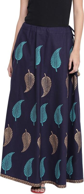 9rasa Floral Print Women A-line Blue Skirt