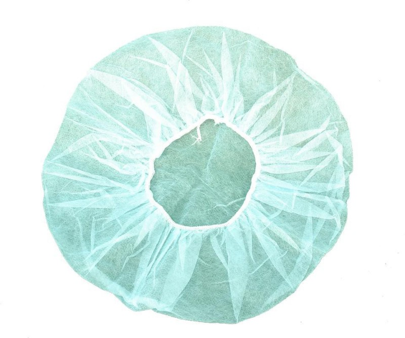 SS & WW Disposable Non Woven Bouffant -18 inch 9 GSM (Green) Surgical Head Cap Surgical Head Cap(Disposable)