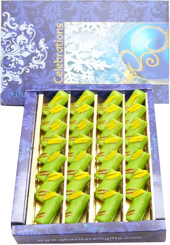 Ghasitaram Gifts Sugarfree Kaju Pista Roll(800 g, Box)