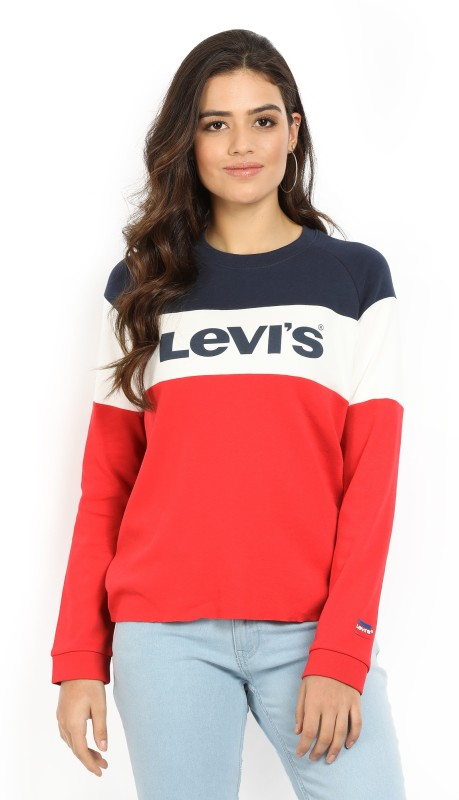 Levis Printed Womens Round Neck Multicolor T-Shirt