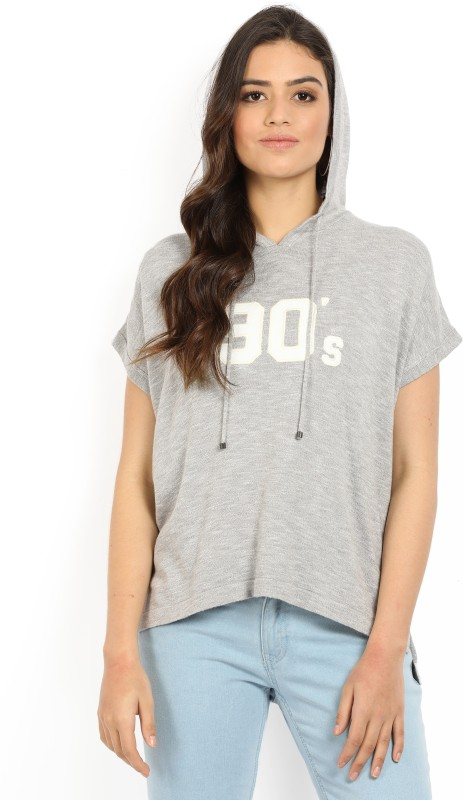 Levis Printed Womens Hooded Grey T-Shirt