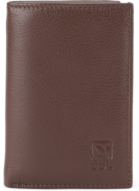 Woodland Men Formal Brown Genuine Leather Wallet(6 Card Slots)