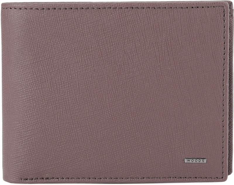 Woodland Men Purple Genuine Leather Wallet(4 Card Slots)