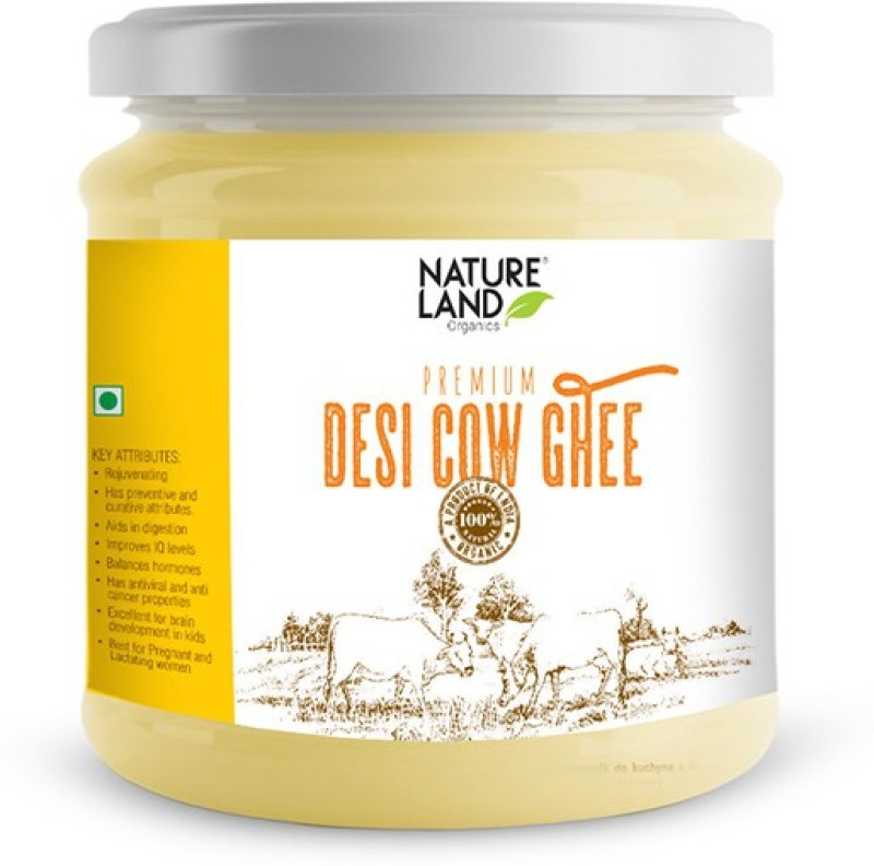 Natureland Organics Premium Cow Ghee 400 Ml Ghee 400 g Plastic Bottle