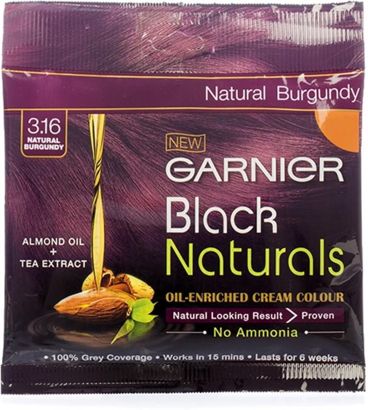 Garnier Black Naturals Oil-Enriched Cream Hair Color(3.16 Natural Burgundy)