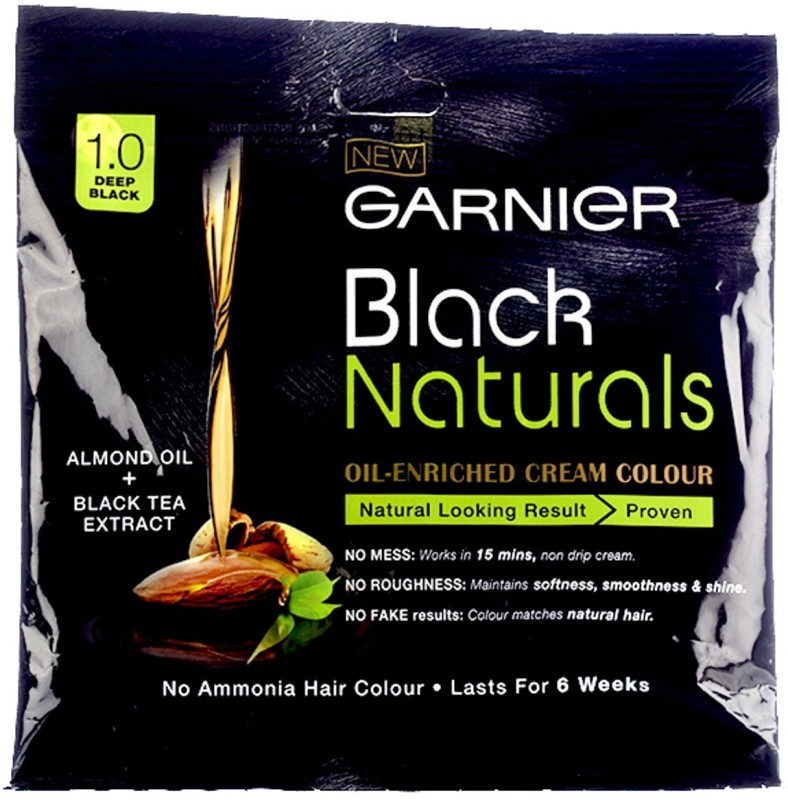 Garnier Black Naturals Oil-Enriched Cream Hair Color(1.0 Deep Black)