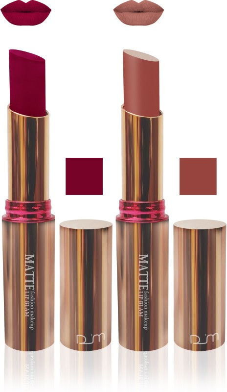 FEMINA09 seven seas velvet matte Enriched with Vitamin E brown marron makeup collection set of 2(brown, maroon, 10 g)