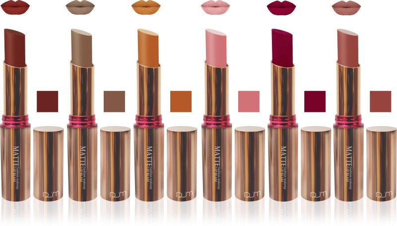 FEMINA09 seven seas cosmetic makeup velvet matte lipstic multicolor collection combo ( set of 6 )(multicolor, 60 g)