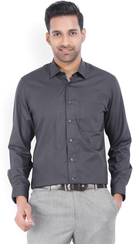 Louis Philippe Mens Checkered Casual Black, Grey Shirt