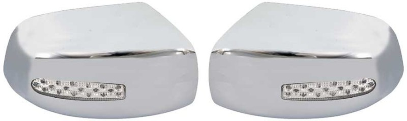 Galio Chrome Blinking Mirror Cover For Quanto (2009 Onwards) Plastic Car Mirror Cover(Mahindra Xylo)