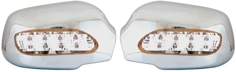 Galio Chrome Blinking Mirror Cover For Figo (2009 To 2010) Plastic Car Mirror Cover(Ford Figo)