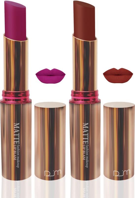 FEMINA09 seven seas matte lipstic pink d brown makeup collcetion combo ( set of 2 )(d brown, pink, 10 g)