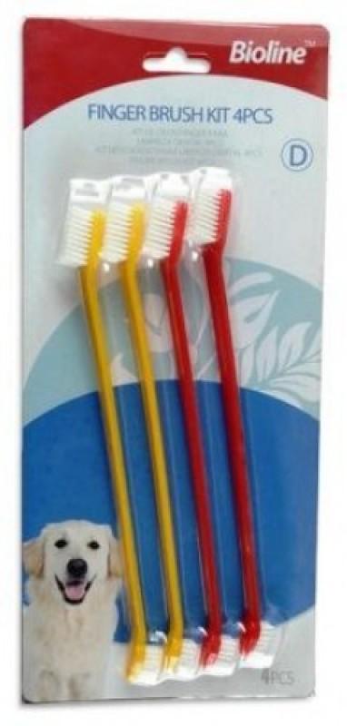 Bioline Dual Head Pet Toothbrush Set 4 Pcs Pet Toothbrush(Dog)