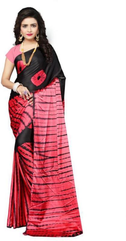 Aruna Sarees Printed Bollywood Satin Saree(Multicolor)