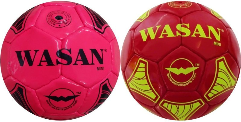 WASAN Mini Football Gift Set - ( 2-5 years ) Football - Size: 1(Pack of 2, Red, Pink)