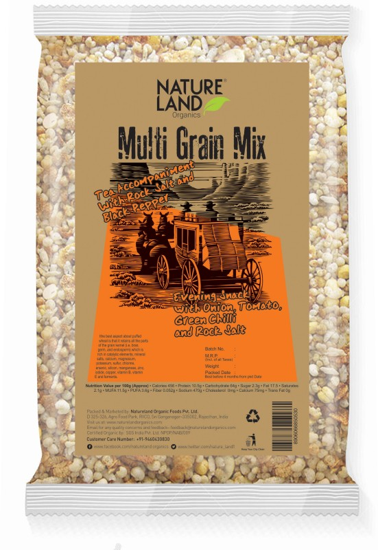 Natureland Organics Roasted Multi Grains Mix 150 Gm(150 g, Pouch)