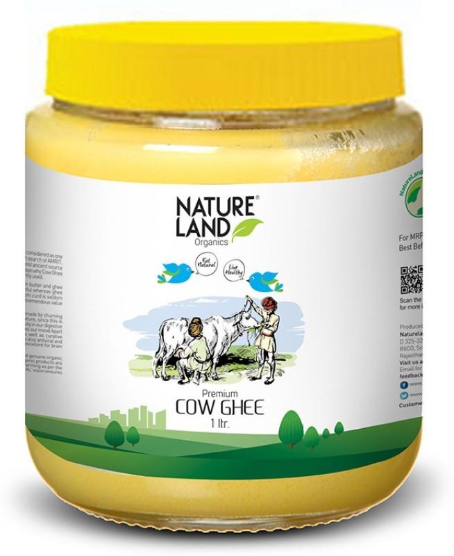 Natureland Organics Premium Cow Ghee 1 Ltr Ghee 1 L Plastic Bottle